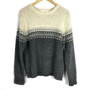 Irelands Eye Crew Neck Textured Stripe Sweater